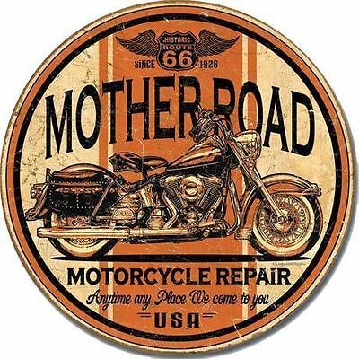 Route 66 Mother Road MotorCycle Repairs Tin Sign 1697  Post 2-12 signs $15