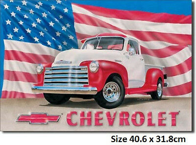 Chevrolet 51 Pickup Tin Sign 704  Postage Discounts 2-13 signs $15 flat rate.