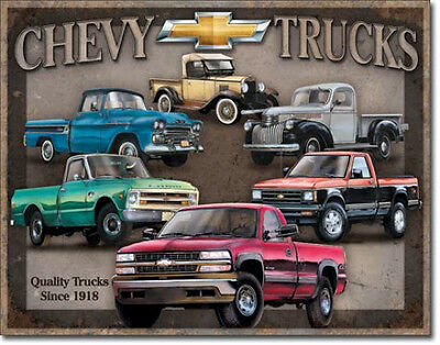 Chevy Truck Tribute Tin Sign 1747  Postage Discounts 2-13 signs $15 flat rate.