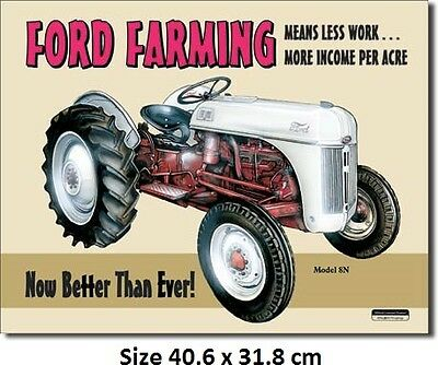 Ford Farming Tractor Tin Sign 758 Post 2-12 signs $15 flat rate.