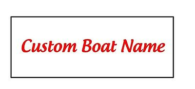 Custom Boat Name Vinyl Letters 6 Inches Tall Decal