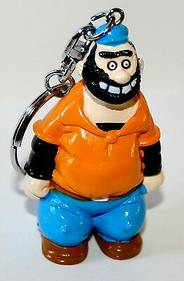 Vintage Applause PVC Figure Brutus from popeye Key Chain New NOS 1993