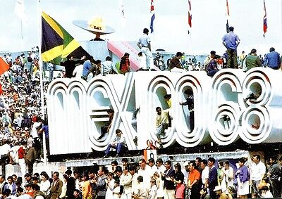 (09239) Postcard - Olympic Games 1968 Mexico Sign