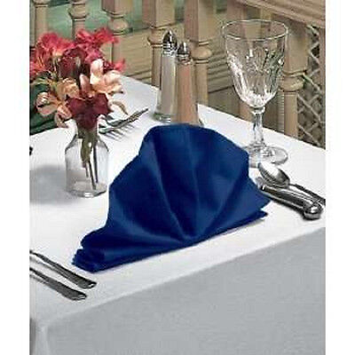 12 blue restaurant dinner cloth linen napkins 20x20