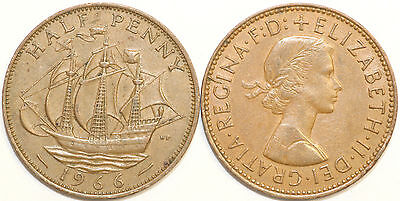 1953 to 1967 Elizabeth II Bronze Halfpenny Your Choice of Date