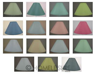 """9"""" Cotton Coolie Lampshade Ceiling Light Pendant Table Lamp Shade 15 COLOURS NEW"""
