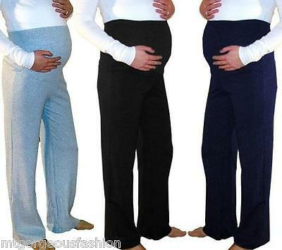 Maternity Pregnancy Pants Casual Trousers Yoga Over Bump Joggers size UK 8-18