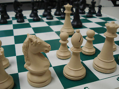 Plastic Cavalier Triple Weighted Tournament Chess Set