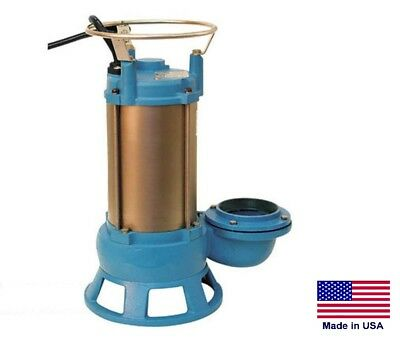 "SEWAGE SHREDDER PUMP Submersible - Industrial - 4"" Port - 5 Hp - 3 Phase - 230V"