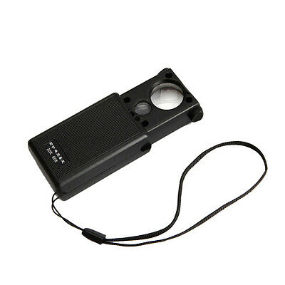 30x 60x LED Lighted Magnifier Jewelers Loupe Loop Glass New