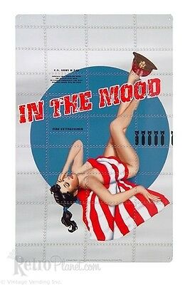 Bomber Nose Art Pinup- In The Mood- Tin Sign 1 of 500+ Signs Rat Rod Hot Rod
