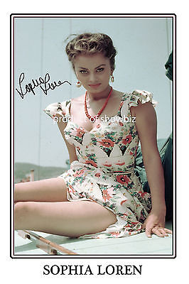 Sophia Loren - Large Signed Autograph Photo Print Poster - Very Sexy