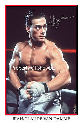 Jean Claude Van-Damme Large Signed Autograph Photo Print, Looks Great Framed!!