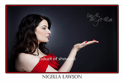 Nigella Lawson - Large Autograph Signed Photo Poster Print - Looks Great Framed