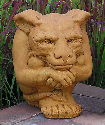 Cast Stone Cement Large Igor Gargoyle Outdoor Garden Statue
