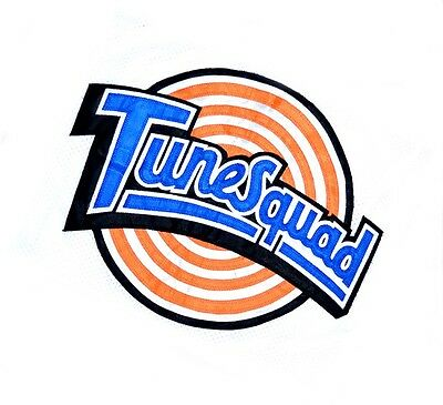 TAZ ! TUNE SQUAD SPACE JAM MOVIE BASKETBALL JERSEY WHITE - ALL SIZES