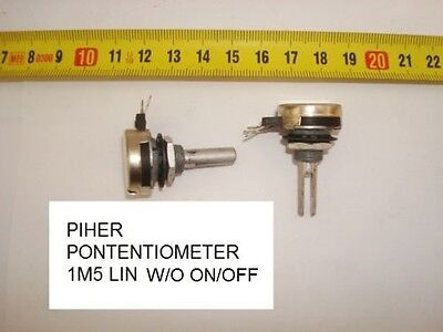 Potenciometro Carbon Piher  Potentiometer. 1,5M 1M5 Lin S/i W/o On/. P1