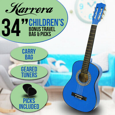 New Blue Childrens Acoustic Guitar Ideal Kids Gift
