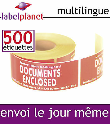 Documents Inclus des étiquettes d'expédition Emballage multilingue Label Planet®
