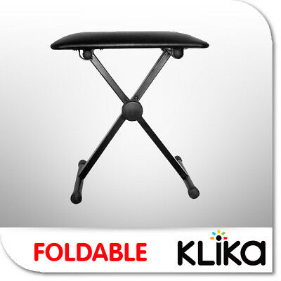 New Portable Folding Piano Stool Keyboard Bench Seat Chair Throne