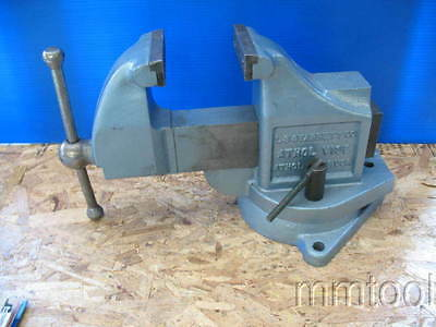 "L S Starrett 4"" Swivel Base Bench Vise"