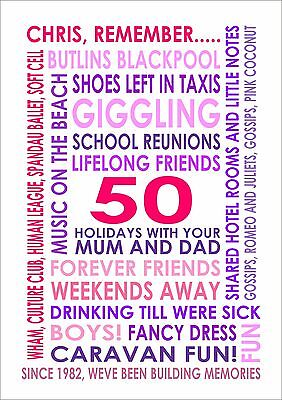 Personalised Couples Likes Print Of Favourite Things Poster Picture Large A3