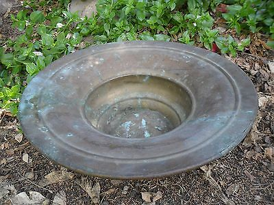 Vintage Antique Hand-Made Hammer Brss Bowl Flowerpot Planter Holy-Land Arabic