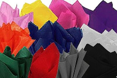 100 x Sheets of Coloured Tissue Paper, gift wrap wrapping packaging inc White