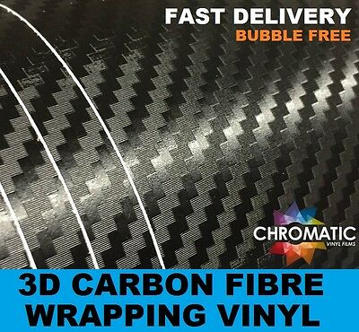 3D Carbon Fibre Vinyl Vehicle Wrap with Air Drain Bubble Free Technology