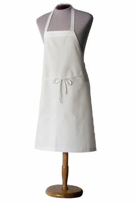 1 Plain White Bib Apron Blank No Pocketapron Chefs Apperal Commercial Clothing