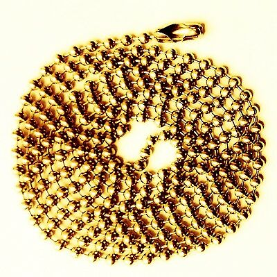 "75 Ball Chains Brass finish 24"" Ballchain #3 necklace"