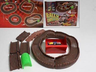 Rally competition wiggly bridge track rally car race track reduced to clear