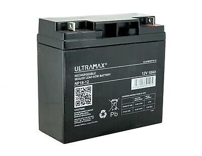 Lawnmower Battery Ultramax 12V 18Ah - (Replaces F19-12B )