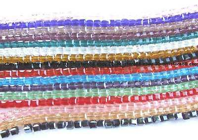 AA 6mm Glass Quartz Square Cube faceted Beads 50Pcs