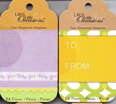 K /& Co Life/'s Little Occasions BABY//BDAY//Valentine//Easter TAG PADS~Quick Ship!