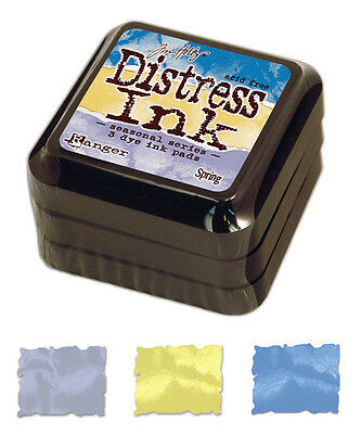 Set of 3 Limited Edition Seasonal Tim Holtz Spring Distress Ink Pads