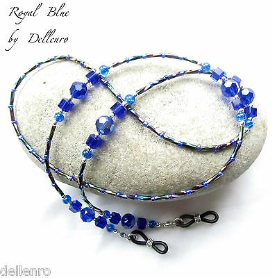 ✫Royal Blue✫ Beaded Eyeglass Glasses Spectacles Chain Holder Cord