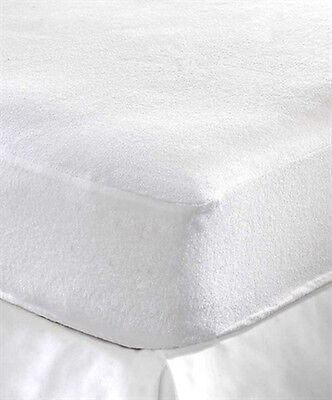 Terry Towel Waterproof Fitted Sheet Mattress Protector Luxury Bed Pillow Cover