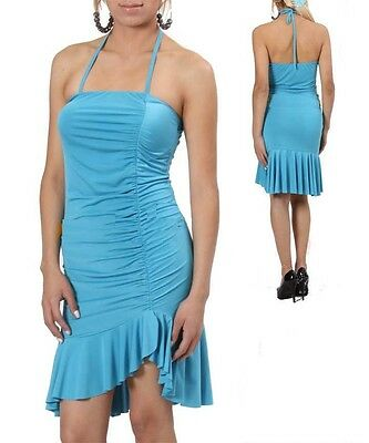 Turquoise Cocktail Day Evening Summer Wear Sun Dress  L