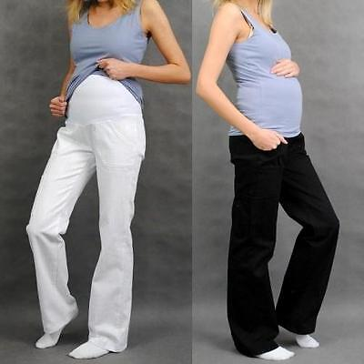 Maternity Pregnancy Cotton Trousers Cargo Pants Over Bump size 8 10 12 14 16 18