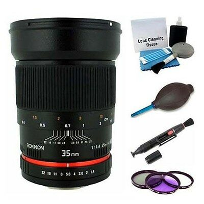 Rokinon 35mm F1.4 Wide Angle Lens for Pentax RK35M-P