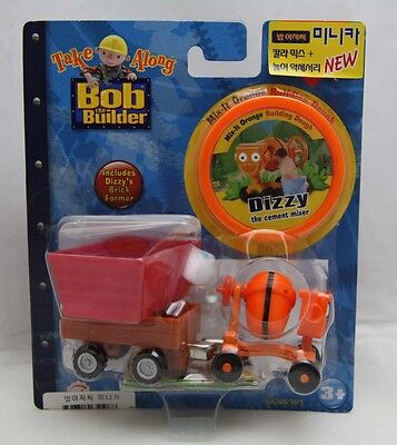 Bob The Builder Take Along Die-Cast 'Dizzy' with Building Dough + Brick Former