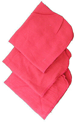 4 RED SHOP TOWELS 100% all cotton cloth Pink Rag auto car mechanic cleaning oil