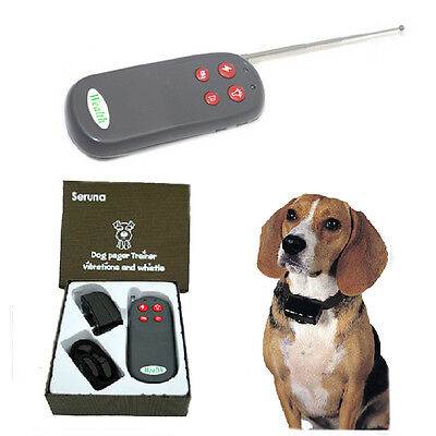4 In 1 Remote Pet Dog Training Contorl Shock Vibrate Collar Trainer Waterproof