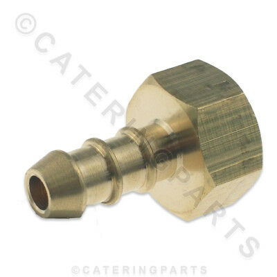 "LPG FULHAM NOZZLE 3/8"" FEMALE BSP THREAD X 10mm OD NIPPLE FOR 8mm BORE GAS PIPE"