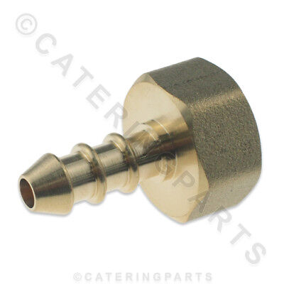 "LPG FULHAM NOZZLE 1/2"" FEMALE BSP THREAD X 10mm OD NIPPLE FOR 8mm BORE GAS PIPE"