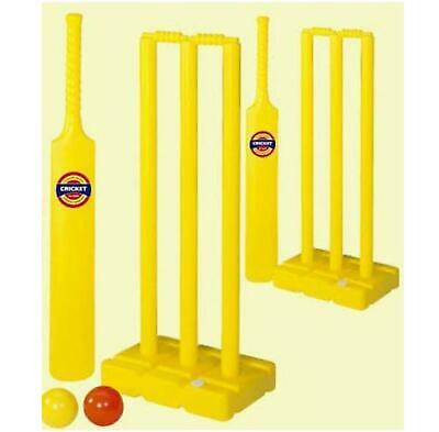 KIDS CRICKET GAME SET 2 x WICKETS BATS BALLS CHILDRENS NEXT WORKING DAY DELIVERY