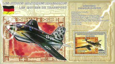 Congo 2006 Stamp, CG0610E German Military Aircraft, Airplane, Transportation S/S