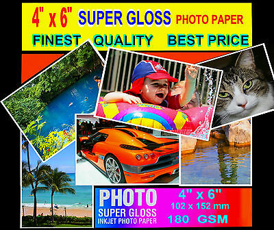Super Glossy Finest Quality Photo Paper   6x4 100 sheets  -180 GSM