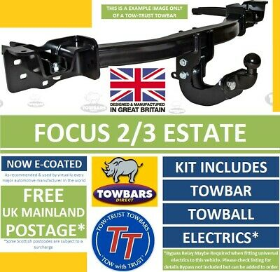 Flange Towbar to fit Ford Focus 2 & 3 Estate 2005 to 2018 UK Tow-Trust TF169